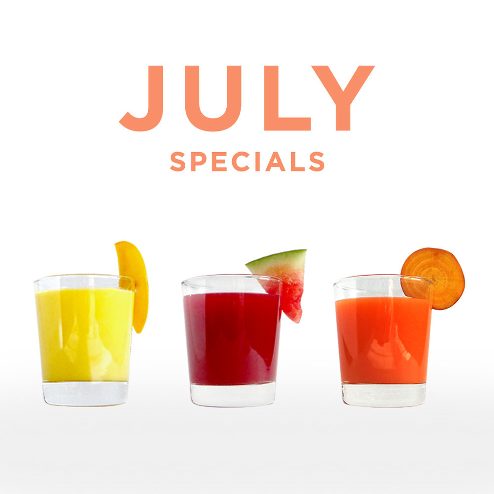 Sip-N-Glo Juicery Summer Specials