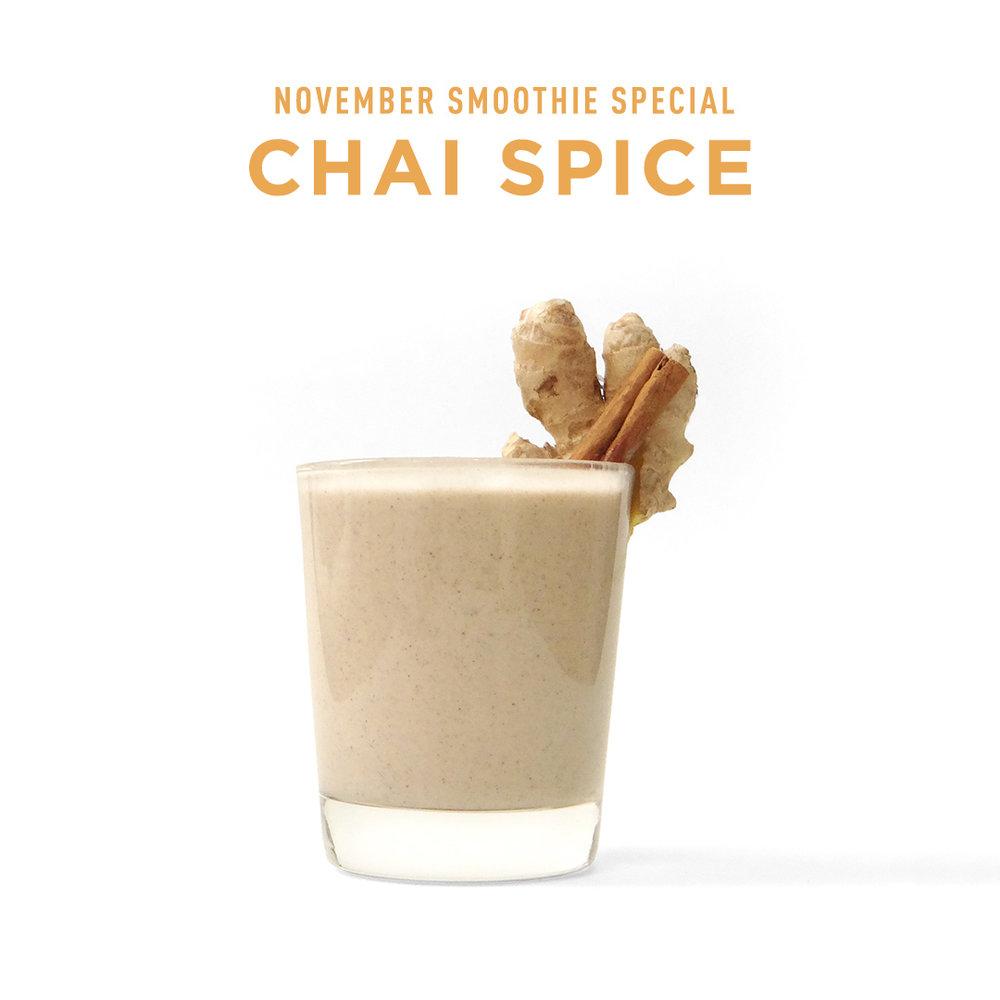Sip N Glo Chai Spice Smoothie