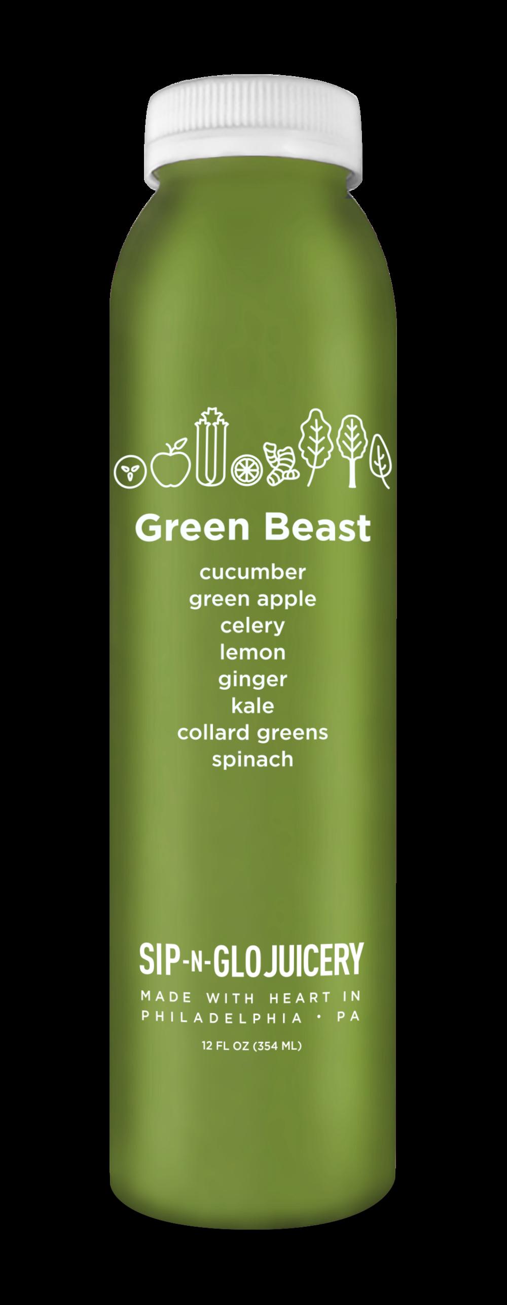 Sip-N-Glo Cold-Pressed Juice Green Beast