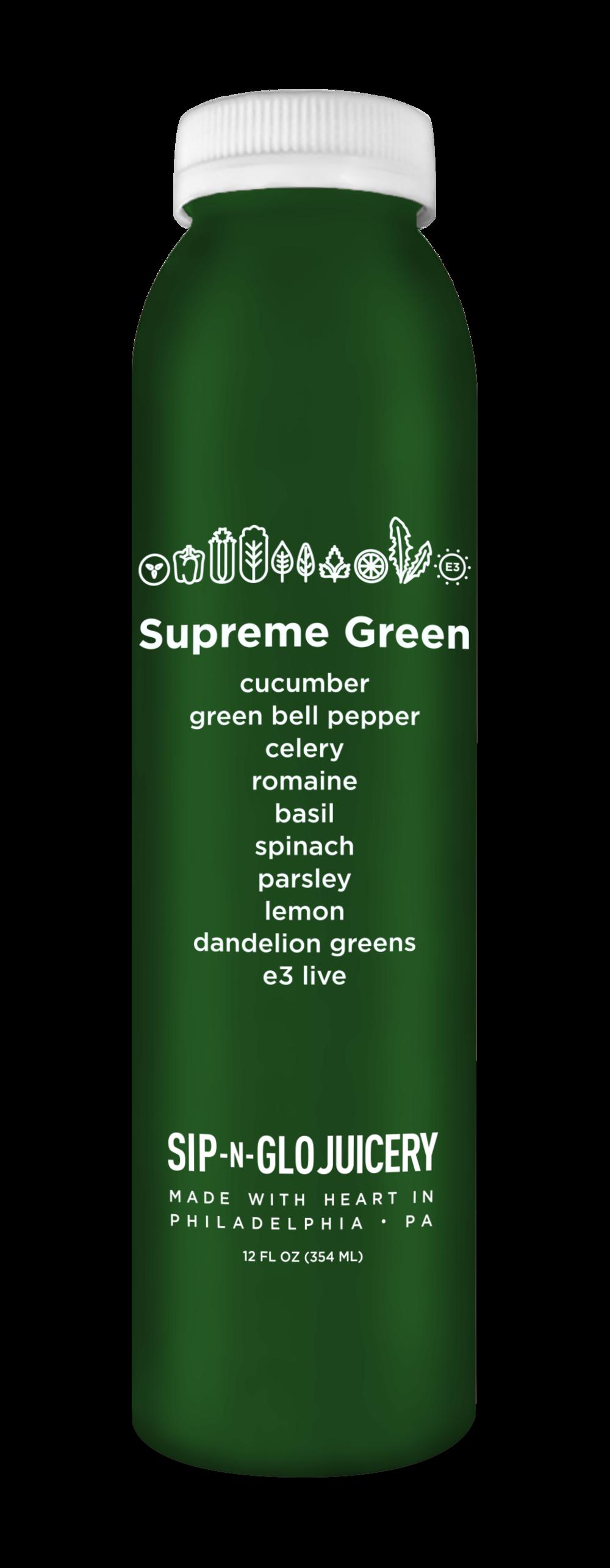 Sip-N-Glo Cold-Pressed Juice Supreme Green