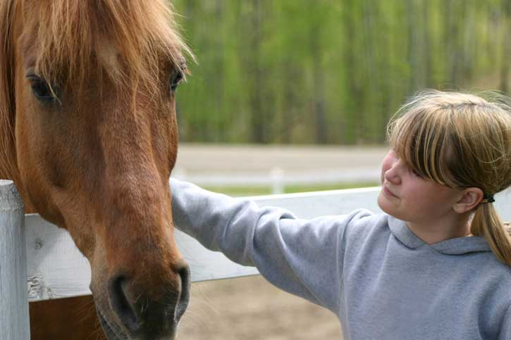 6 Areas Research shows horses benefit children                                              (click on image to read article)