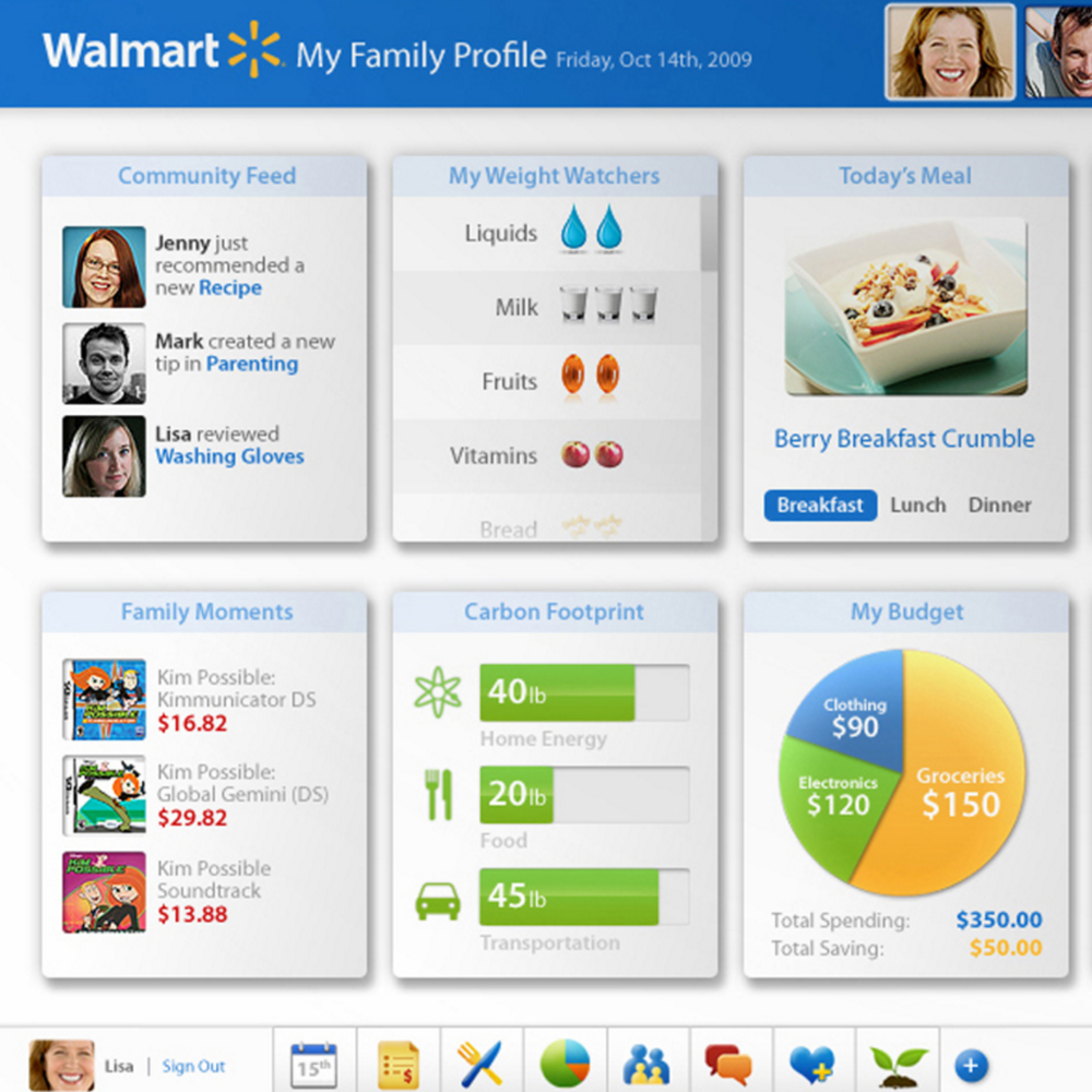 Walmart Interface Design