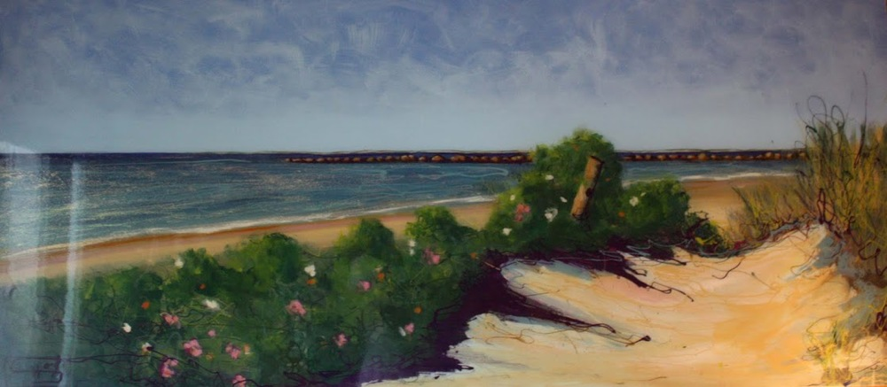 "Quite Beach: 72"" x 31 1/2"""