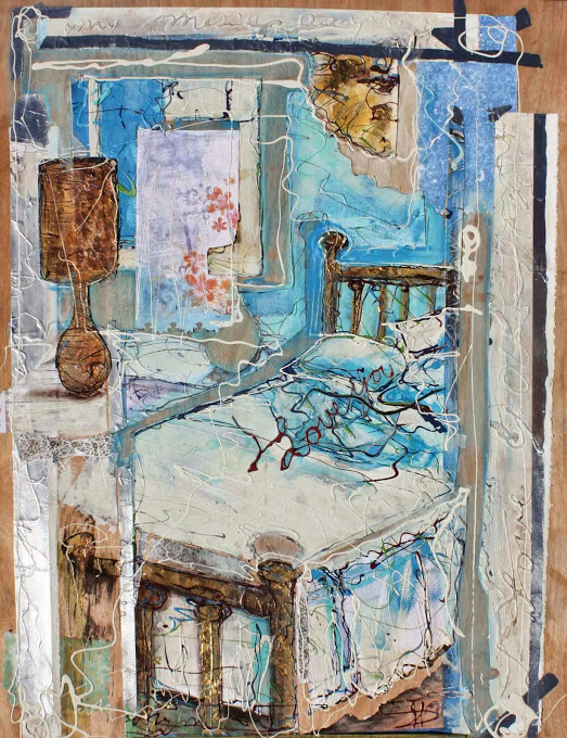"Messy Empty Bed 48"" x 36"""