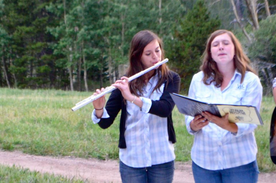 Playing worship music at Wind River Ranch in Estes Park, CO.