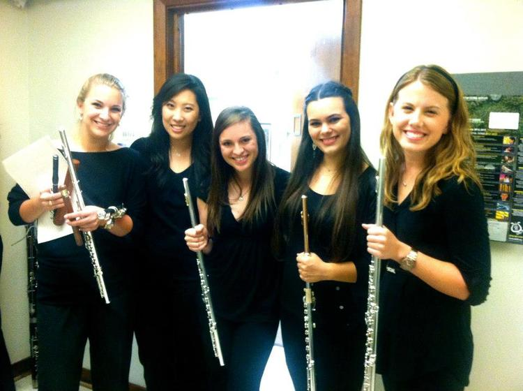 Flute studio members at SMU.
