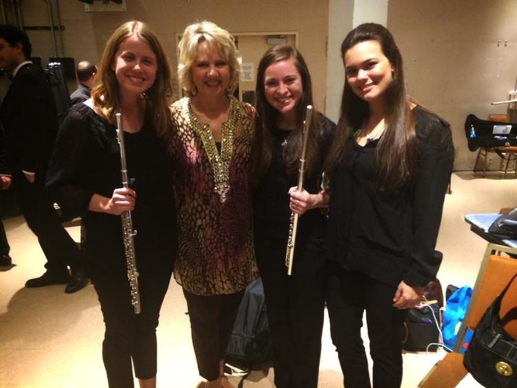 With teacher Jean Larson Garver, of the Dallas Symphony.