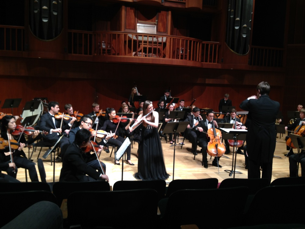Performing the Nielsen Concerto as Winner of the Meadows Concert Competition.