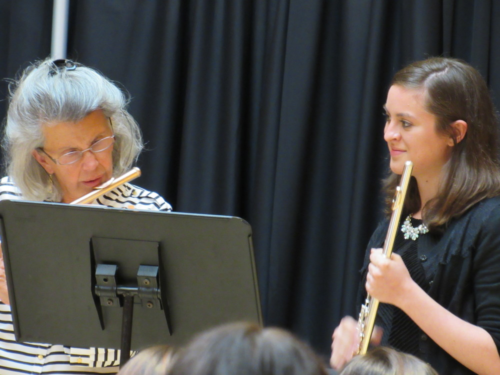 Performing in a masterclass with Jeanne Baxtresser.