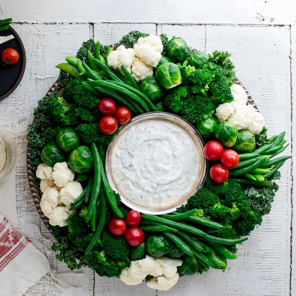 Vegetable Wreath Platter - Photo by Eating Well