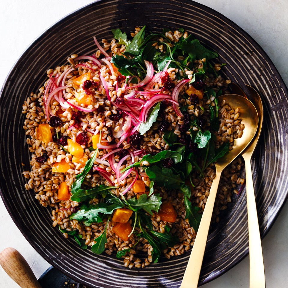 Farro Salad with Cranberries and Persimmons - Photo by Eating Well