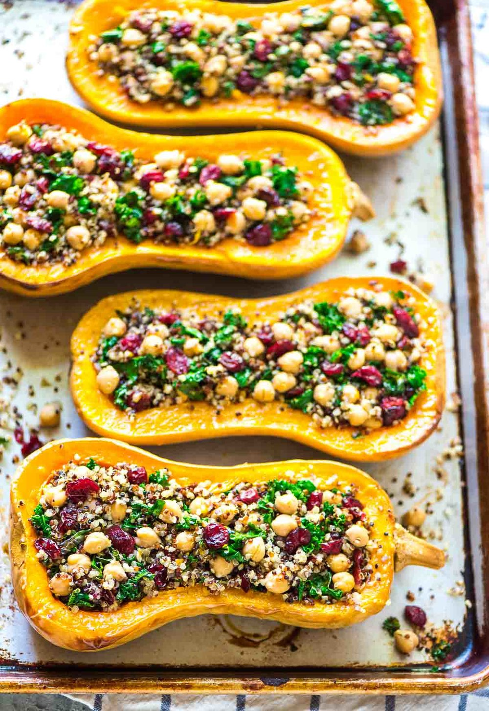 Quinoa Stuffed Butternut Squash - photo by Erin Clarke of Well Plated