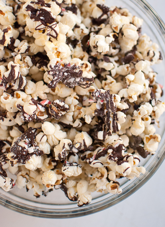 Peppermint Bark Popcorn - Photo by Kate of Cookie and Kate