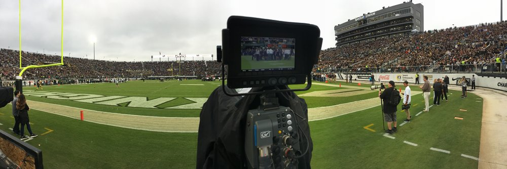 Sold-Out UCF vs USF Football Game - Video Board Camera Operator