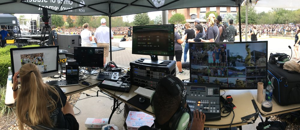 2017 UCF Homecoming Spirit Splash - Video Production Manger (ensuring stream success to over 25k viewers with 4 live cameras and capturing event for recap video)