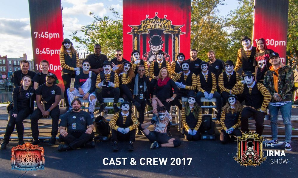 HHN @ Orlando - Academy of Villains Video Crew (installed LED wall, operated video playback during the 15-minute shows each night)