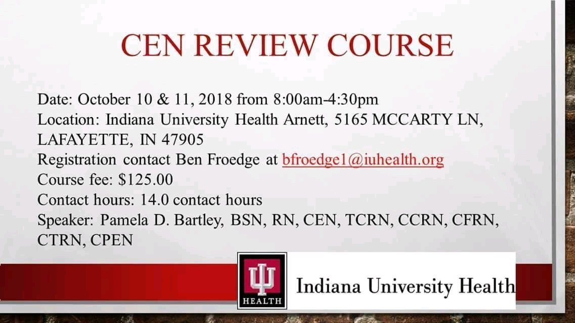 emergency nursing education — indiana ena
