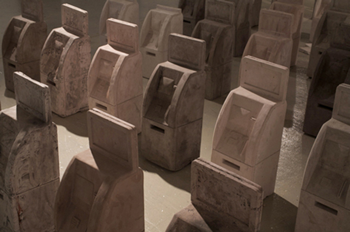 The Right Relationship, Plaster and terra cotta (ATM machines), Variable Dimensions, 2009.