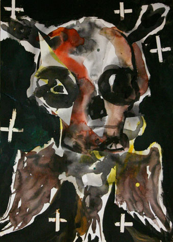 Skull. Watercolor on Paper,  2009.