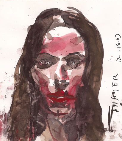 Thayer. Watercolor on Paper, 2009.