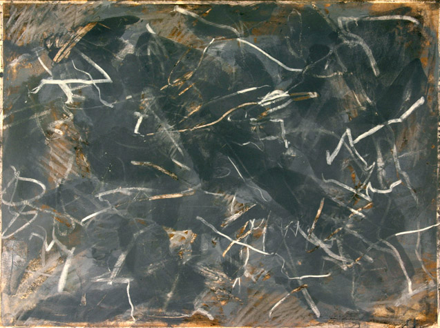 "Untitled, Acrylic on Paper Mounted on Canvas. 22"" x 30"",  1976-77."