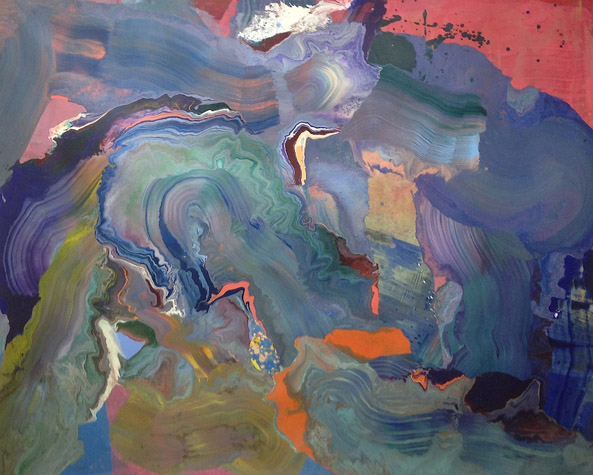 "Ruby Beach, Acrylic on Canvas. 67"" x 113"",  1977."