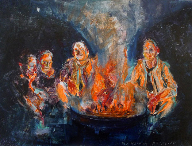 The Campfire. Oil on Canvas, 17x13 inches, 2012.