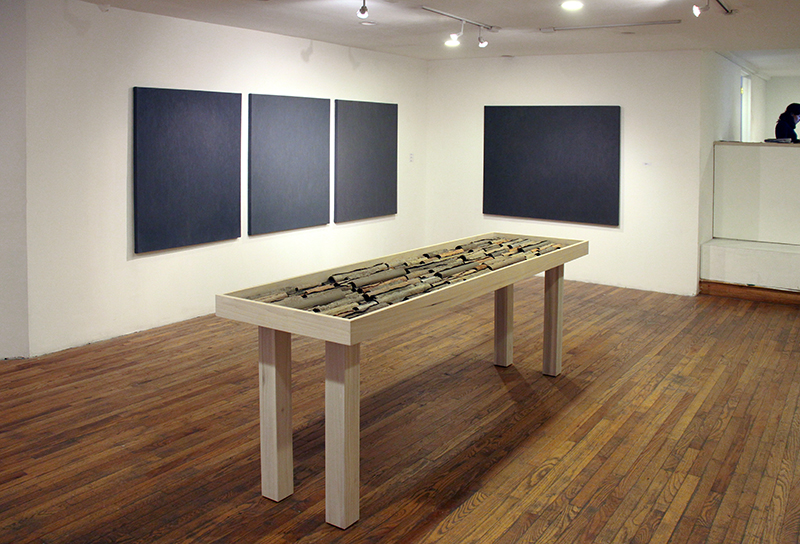 Installation View (River Library Scrolls and Gateless Gates Series)