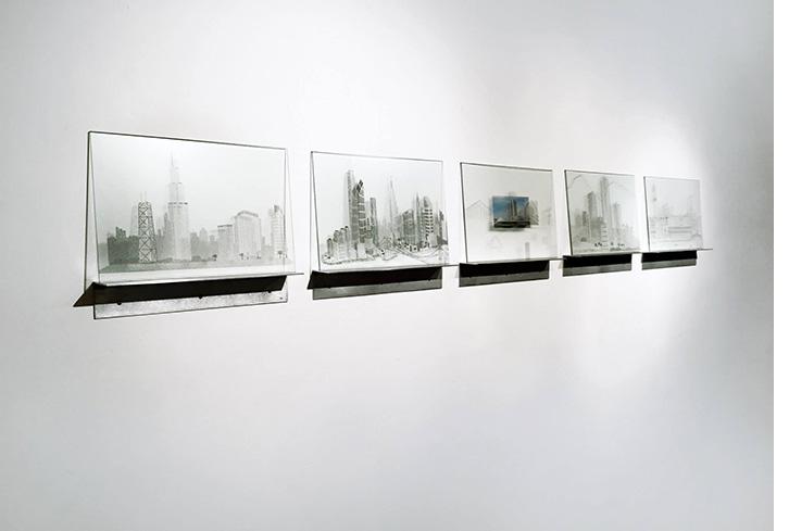 Studies for Landscape of Belief (Chicago, Bogota, Brasilia, NYC, Venice)