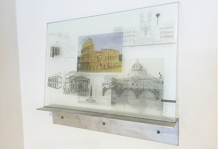 Studies for Landscape of Belief, Rome_Glass