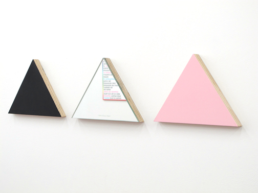 Triangle (detail) from Shapes of Freedom, Installation at New Museum, 2012.