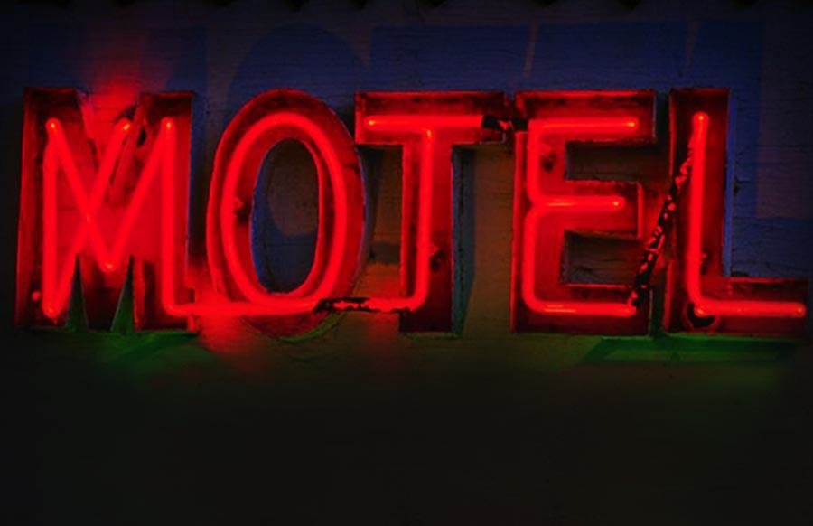 at the motel...