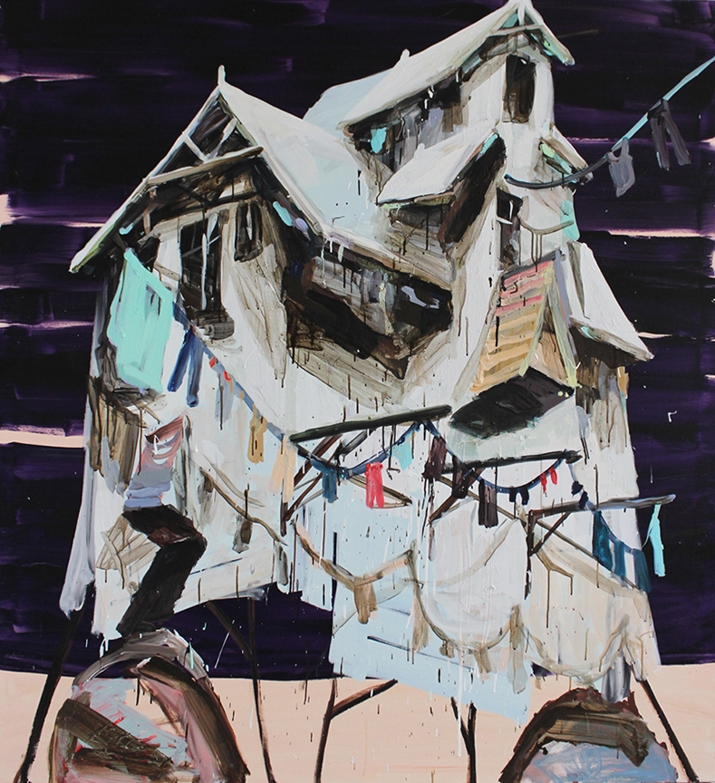 Mie Olise. Laundrymill, 2014. Acrylic on canvas. 190x170 cm