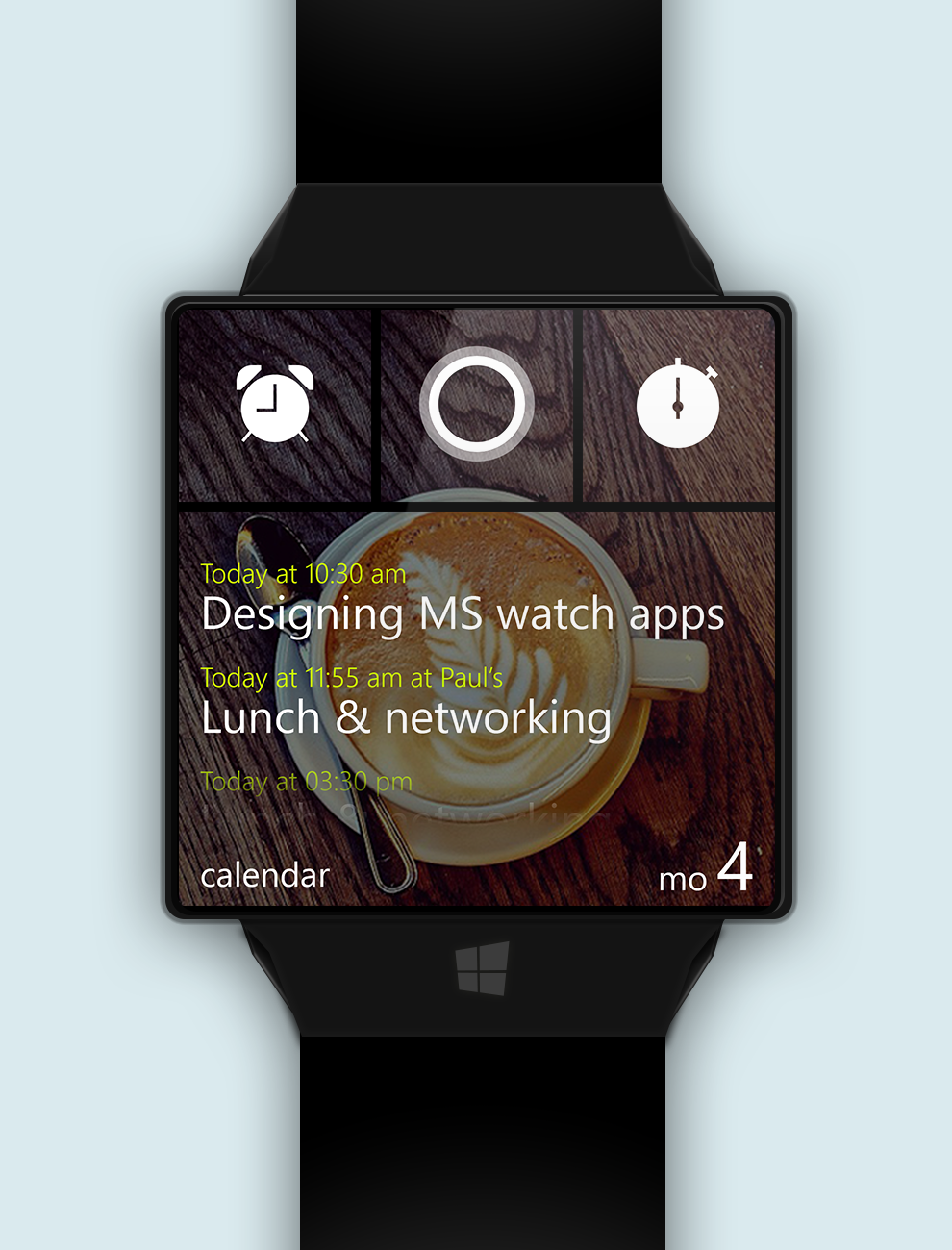 Windows_watch_calendar_cortana_stopwatch_alarm