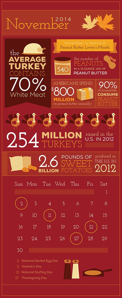 November Infographic Calendar