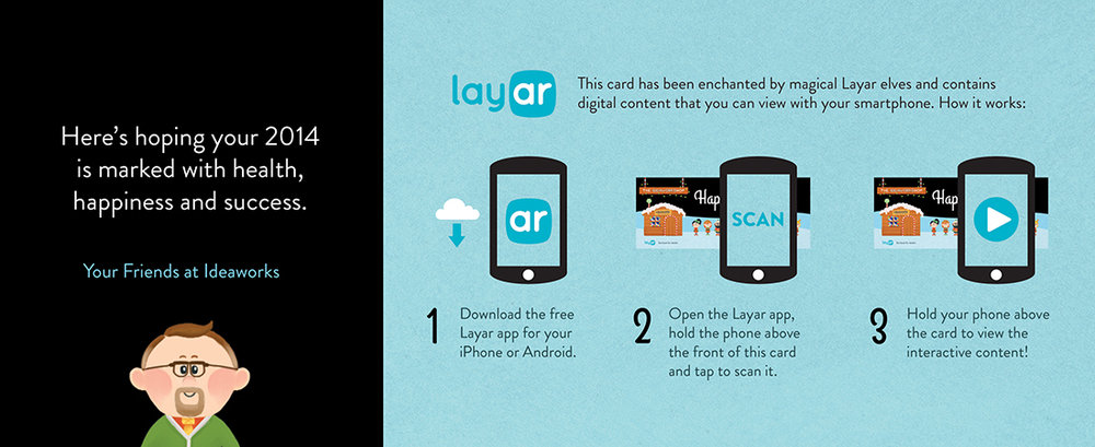 Back side of card with AR app integration instructions.