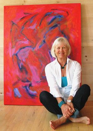 Priscilla Hayes in Maine Studio