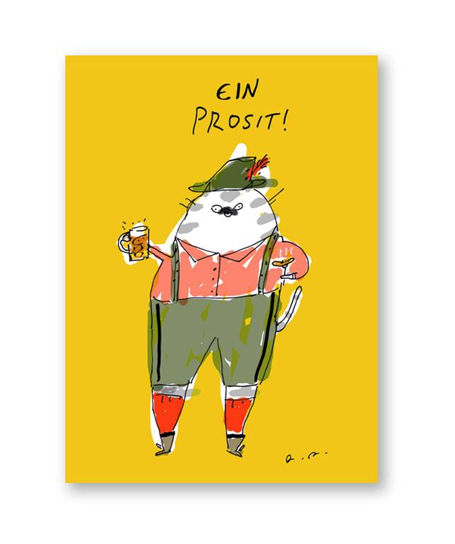 New Euro Cat Cards- Including Oktoberfest Cat to get you in the mood for all the Fall festivities. Plus be sure to dazzle your friends with your new Continental salutations picked up from Summer abroad…!