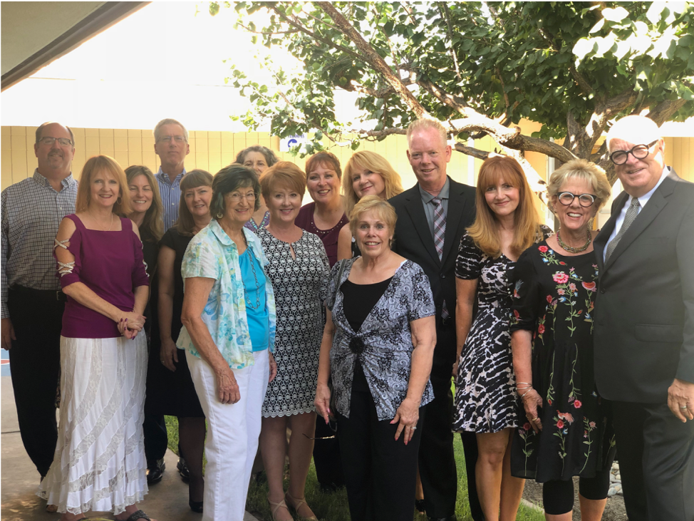 "August 25, 2018 (Perry and Judy's 34th wedding anniversary). ""My life changed ten minutes after this photo was taken. I'm the tall guy in the middle. I had been standing around talking to all these people pictured. They are friends I made 40 years ago at Christian Life Church in Long Beach California."""
