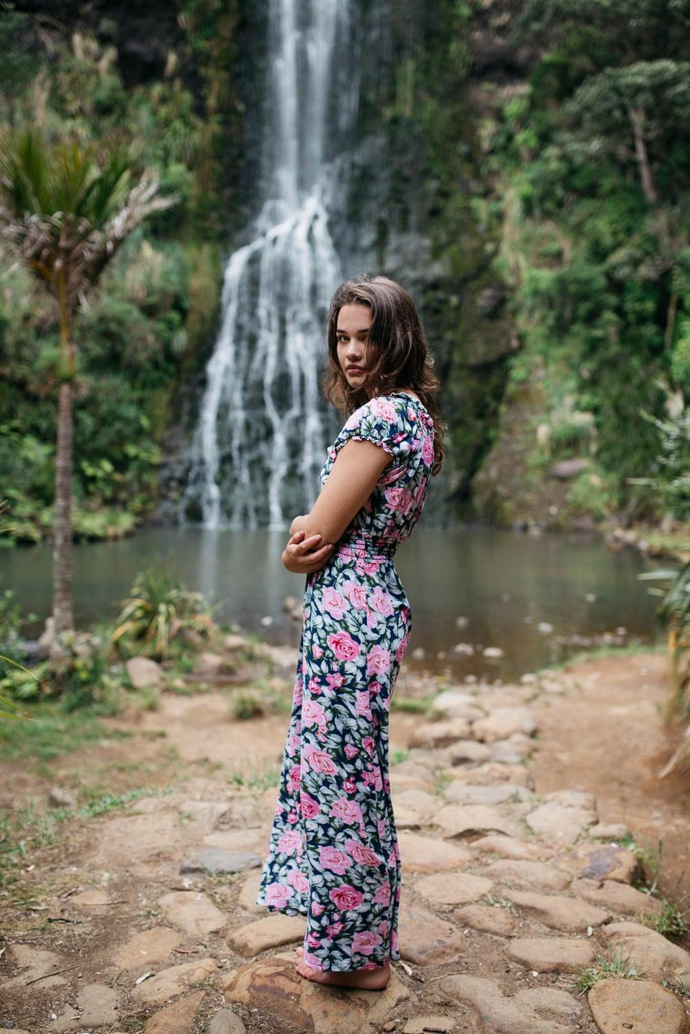 Becki at Karekare Falls