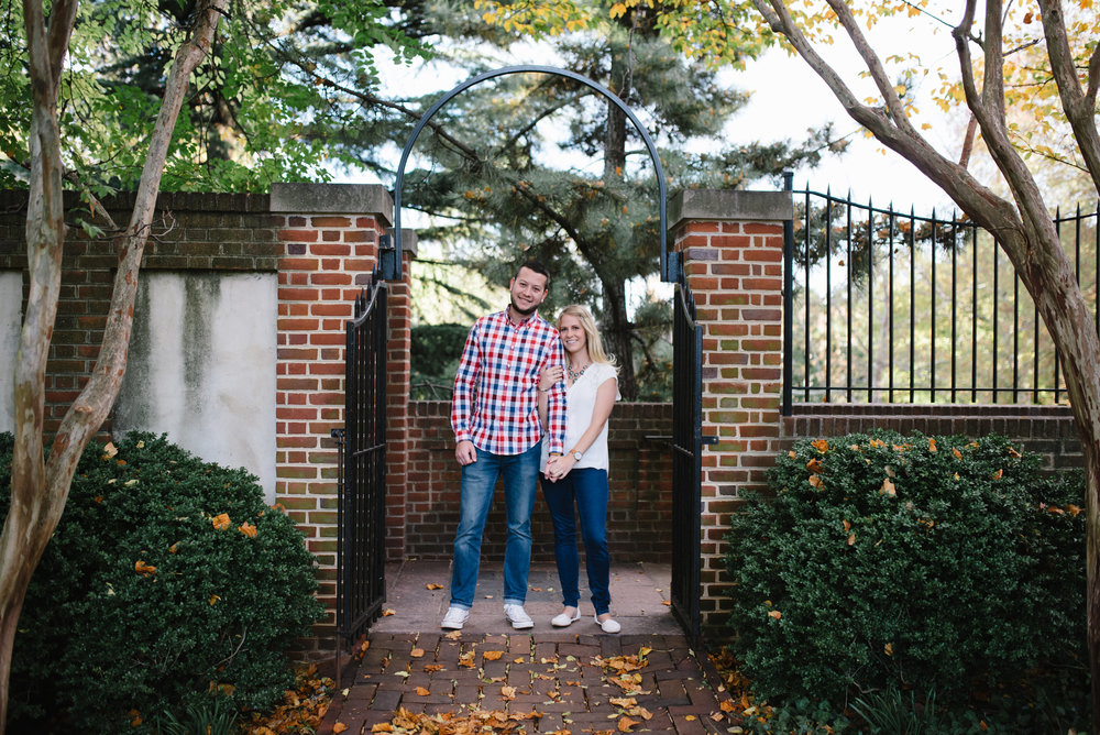 fall engagement photo from dumbarton oaks in washington dc