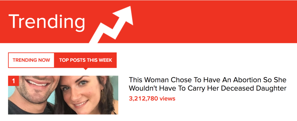 The Buzzfeed article has been read over 3 million times and is currently trending as the top post of the week. That is insanity.
