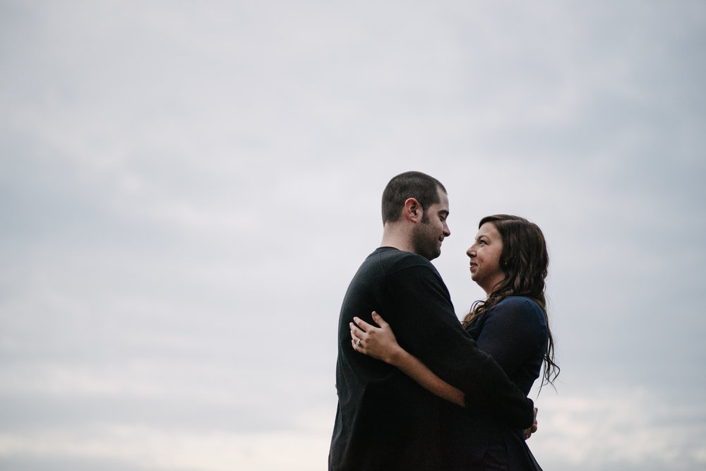 Beautiful engagement portrait in the sky from Virginia