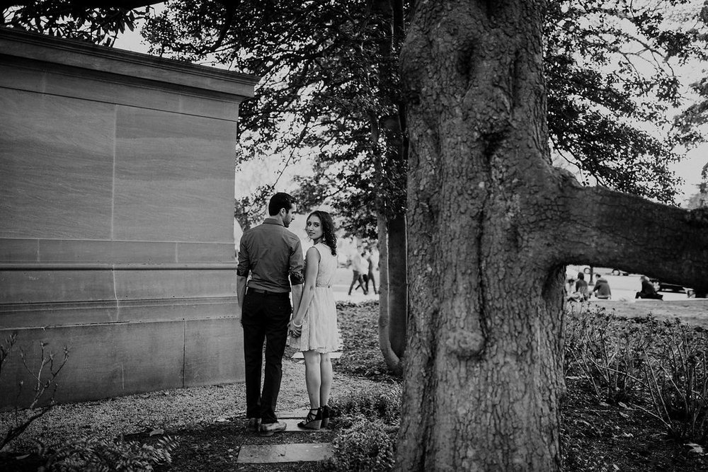 dc engagement portrait black and white