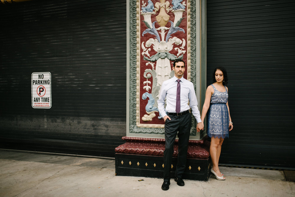 editorial style engagement portrait in dc