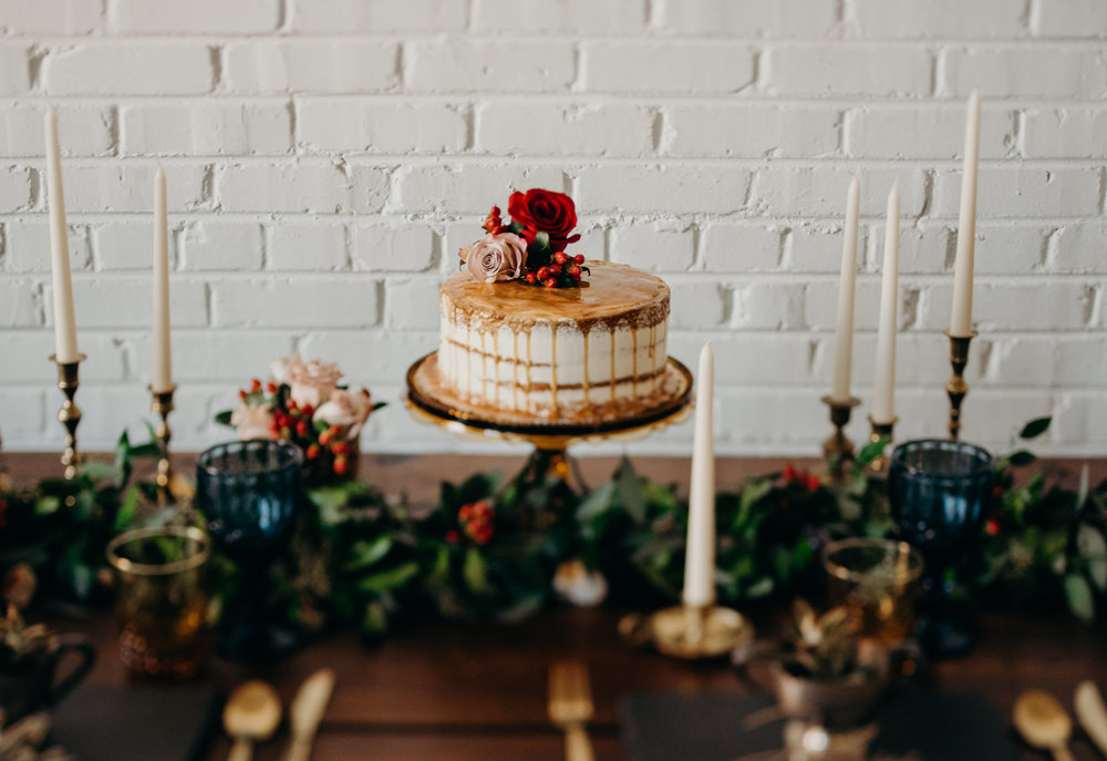 Can you believe this cake came from Whole Foods?? It's amazing what some florals can do when it comes to giving a cake a little face lift.
