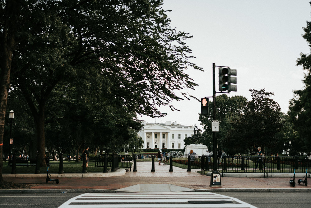 across the street from the White House in Washington DC