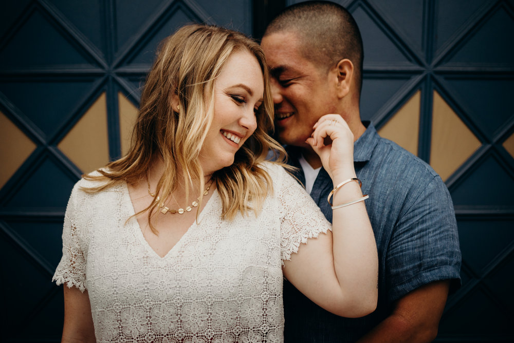 engagement photo taken near National Portrait Gallery in Washington, DC