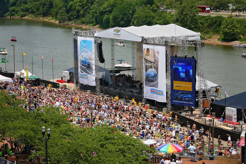 Riverfront stage at CMA Fest