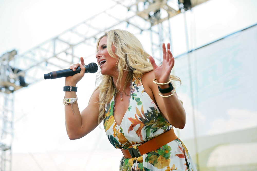 Julie Roberts performing at the Chevrolet Park Stage during CMA Fest